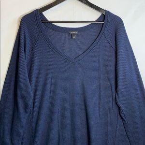 Torrid Women's Size 3 Navy Blue Long Sleeve Top